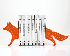 Bookends - Reading Fox - laser cut for precision these metal bookends will hold your favorite books on Etsy, $54.99