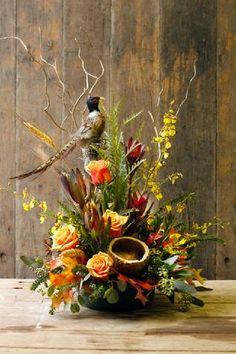 Thanksgiving flower arrangements garden ideas can find Silk flower arrangements and more on our website. Silk Floral Arrangements, Flower Arrangement Designs, Funeral Flower Arrangements, Fall Arrangements, Funeral Flowers, Artificial Flower Arrangements, Arte Floral, Deco Floral, Floral Design