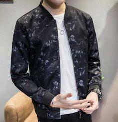 2017 thin leaves bomber jacket for men plus size clothing