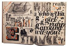 moleskine would be better if it had inspiring words reated to you as an individual Typography Sketchbooks, Typography Letters, Typography Design, Artist Sketchbook, Sketchbook Pages, Sketchbook Ideas, Moleskine, Notebook Art, Book Journal