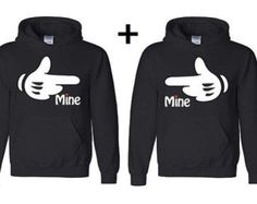 His & Hers Couples Hooded Sweatshirts by PinkLaundryEvts on Etsy