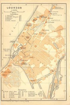 Map of Luxor Egypt 1914