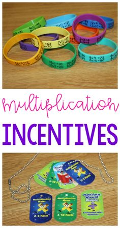 Motivate students with these multiplication fact incentives!