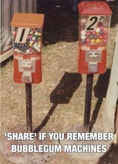 Share if you remember bubblegum machines