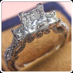 You and I and our future: Insignia-7074P with a 1.10 carat princess cut diamond.  @verragio