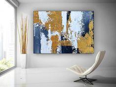 Gold Leaf Original Painting Abstract Art Dine Room Wall Art image 2 Large Artwork, Large Canvas Wall Art, Large Painting, Abstract Wall Art, Canvas Art, Painting Abstract, Acrylic Paintings, Modern Wall Art, Modern Decor