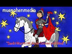 Sankt Martin ritt durch Schnee und Wind - Kinderlieder zum Mitsingen - Laternenlied - Martinssingen - YouTube German Resources, Religion, Rhymes For Kids, German Language, Kitty, Youtube, Herren Style, School Ideas, Classroom