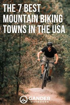 So you've got a mountain bike and you're willing to travel…but where can you get the most riding in? Here are the 7 best mountain biking towns in the USA where you can have a killer time on your bike Mountain Biking Quotes, Mountain Biking Women, Best Mountain Bikes, Mountain Bike Shoes, Mountain Bike Trails, Bike Wallpaper, Wallpaper Iphone Vintage, Mtb Trails, Bike Quotes