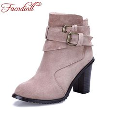 (46.44$)  Buy here - http://airjd.worlditems.win/all/product.php?id=32774297733 - autumn boots quality vintage real leather women ankle boots short cylinder boots thick high heels martin boots zip casual shoes