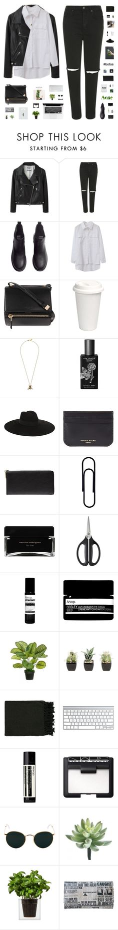 """""""SAMANTHA MARIA // #botss"""" by c-hristinep ❤ liked on Polyvore featuring Acne Studios, Topshop, H&M, Chicnova Fashion, PSST, Givenchy, Jigsaw, TokyoMilk, Yves Saint Laurent and Sophie Hulme"""