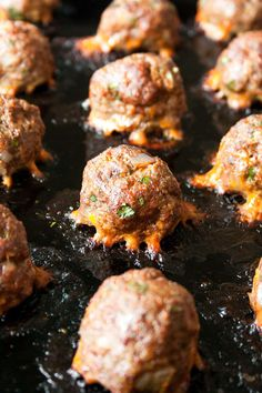 Chorizo meatball sliders are an easy and flavor-filled way to feed the whole family! Inspired by Italian meatball sandwiches, these sliders served on sweet potato buns are a spicy and healthy spin on the classic sandwich. Gluten Free Appetizers, Gluten Free Recipes, Appetizer Recipes, Keto Recipes, Sweet Potato Buns, Meatball Sliders, Vegetable Appetizers, Italian Meatballs, Meatball Recipes