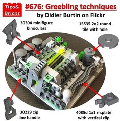 this is a piece of LEGO jargon that put simply means mechanical-looking details with no… Lego Moc, Lego Duplo, Minifigures Lego, Lego Mindstorms, Instructions Lego, Hama Beads Minecraft, Perler Beads, Lego Super Mario, Lego Construction