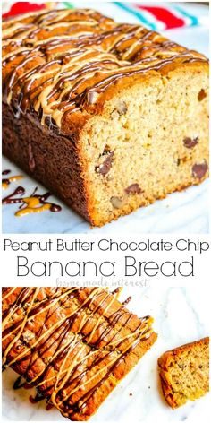 Peanut Butter Chocolate Chip Banana Bread