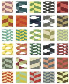 Retro Herringbone Illustrator Pattern Swatches