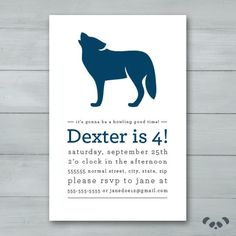 Wolf Birthday Party Invitation | Wolf Invite | Howl Birthday Invitation