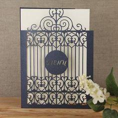 Ornamental Gate Laser Cut Wedding Set Day Invitation & by Cartalia