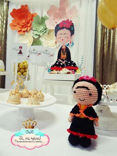 Decorations at a Frida Kahlo birthday party! See more party ideas at CatchMyParty.com!