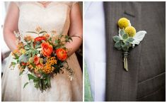 A natural, unstructured bridal bouquet with ranunculus, Fever Few, and Billy Balls.  Keith House Wedding. Historic Home Wedding. The Way We Click. Sweetchic Events. Pollen.