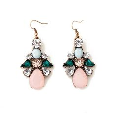 Baoyi Jewelry New #Bj13 Vintage Multi-bead Retro Fashion Bridal Chandelier Earrings with Crystals Dangle Teardrop Earring for Women- Perfect Birthday Gifts for Her & Unique Gifts for Women - Pretty Christmas Gifts for a Mom, Sister or Best Friend