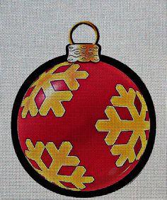 Needlepoint Canvas - Christmas flask ornament xmas https://www.stitchartneedlepoint.com/products/700001101035