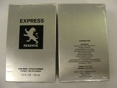 """Express Reserve for Men 3.4 oz Cologne New in Box by Express. $29.95. """"Introducing Express Reserve, inspired by the moment the sun sets behind the skyline and the city streets come to life. Classically modern. Stylishly sexy. Perfectly aged. Express Reserve is the fragrance for the man with effortless style."""". Save 50% Off!"""