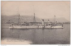 """Le """"Lalande"""" (1889). 1968t Troude class protected cruiser. Armed with 4-5.5in/30 QFC M1884 and 150 mines. 1.6in curved armoured deck."""