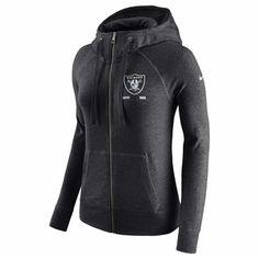 Raiders Nike Women's Vintage Full Zip Gym Hood