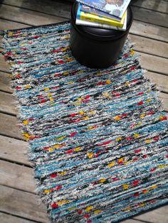 Woven Pendleton Wool Selvage Rug Bright  Multi 33x56...via Etsy.