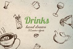 Vector Drink Pack by MonstroCity on @creativemarket