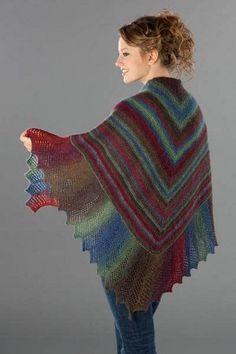 Lace Edge Garter Stitch Shawl | AllFreeKnitting.com