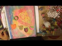 Art Journal Page Tutorial - Layers of colors