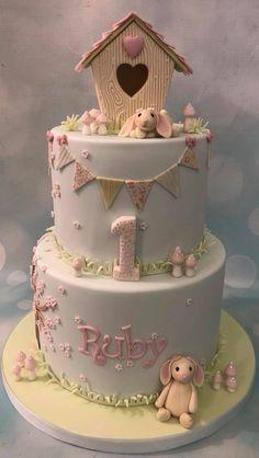 Home Bunny Birthday CakeHappy