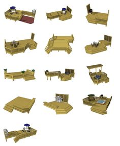 Deck Plans - Ground Level 4 | Residential and Commercial Fence Fabrication Raleigh - Sierra Structures Deck Boat, Back Deck, Plan Design, Deck Design Plans, Deck Plans, Deck Building Plans, Patio Design, Landscaping Supplies, Ground Level