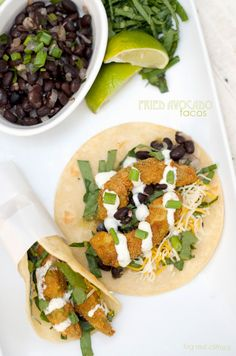 Fried Avocado Tacos for #manmonday. all of the perfection of a fish taco, minus the fish | bigredclifford.com