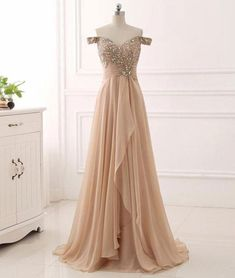 Elegant Prom Dresses, prom dresses,Champagne Sweetheart Off Shoulder Beaded and Sequined Prom Dresses, Long Prom Dresses 2018 Sweater Dresses UK Cheap Prom Dresses Uk, Elegant Prom Dresses, A Line Prom Dresses, Pretty Dresses, Evening Dresses, Formal Dresses, Dress Prom, Party Dress, Prom Gowns