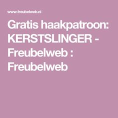 Gratis haakpatroon: KERSTSLINGER - Freubelweb : Freubelweb