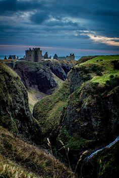 What's left of Dunnottar Castle near Stonehaven, Scotland