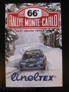AFFICHE ORIGINALE ACM 66° RALLYE MONTE CARLO 1998 WRC fr.picclick.com