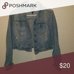Gorgeous jean jacket gorgeous Jean jacket.  Material is 76%cotton 22%polyester  2%rayon Highway Jeans Jackets & Coats Jean Jackets