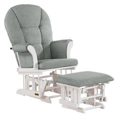 Cuddle your little sweetie in comfort and style with a Shermag Alexis Glider Rocker and Ottoman Combo. This glider and ottoman set is stylish enough that you'll be able to choose between putting it in your nursery or your family room. It has a timeless look that lasts into your child's toddler years when you can sit together comfortably looking at books and snuggling. The glider chair has soft microfiber fabric and plush foam on the seat, back and arms to keep you comfortable. Sturdy ...
