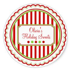 Shop Christmas Sweet Stripes Holiday Stickers created by LittlebeaneBoutique. Happy Holidays, Christmas Holidays, Christmas Stickers, Canning Jars, Custom Stickers, Activities For Kids, Celebration, Diy Projects, Stripes