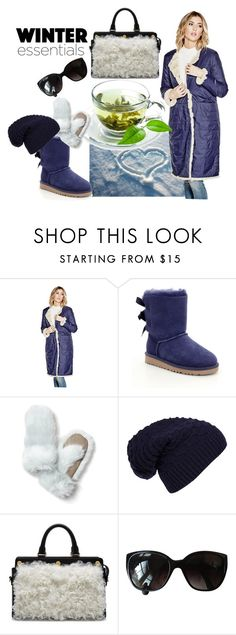 """""""puffer jacket"""" by elza-345 ❤ liked on Polyvore featuring GUESS, UGG, Banana Republic, WithChic, Mulberry and Chanel"""
