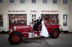 """Burning Love"" Firehouse Wedding Inspiration Shoot"
