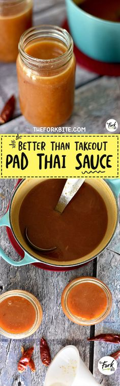 #PadThaiSauce - This perfectly sweet, tangy, a bit salty Pad Thai sauce with a little kick of spice is so easy and quick to make so you'll have a perfect dish every time.