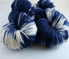 Hand dyed 100 Cashmere knitting yarn handspun