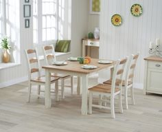 Buy The Somerset 150cm Oak And Cream Dining Table With Chairs At Furniture Superstore