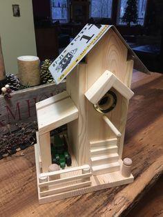 Simple Fun to Make Pine Birdhouse. ~ The Skaarsgard Collection ~ Nashville IN 47448 #simplebirdhouse