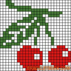 Cherries perler bead pattern