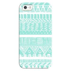 iPhone 6 Plus/6/5/5s/5c Bezel Case - Boho Mint Aztec ($35) ❤ liked on Polyvore featuring accessories, tech accessories, phone cases, phone, cases, cell phone, iphone case, iphone cover case, apple iphone cases and iphone cases