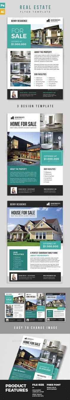 Real Estate Flyer  Real Estate Flyers Flyer Template And Real Estate